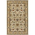 Hand-tufted Traditional Coliseum Vanilla Floral Border Wool Coliseum Rug (2'6 x 8')