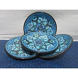 Set of 4 Sabrine Design 8-inch Side Plates (Tunisia)