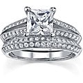 18k White Gold 2ct TDW EGL Diamond Bridal Set (I, SI1-SI3)