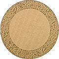 Indoor/ Outdoor Natural/ Brown Rug (6'7 Round)