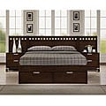 Noho Warm Cherry Queen-size Platform Wall Bed Bedroom Set