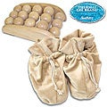 Soothera Therapeutic Wood Foot Massager/ White Swan Slippers