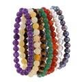 Maddy Emerson Genuine Gemstones Stretch Bracelets (Set of 7)