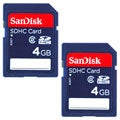 SanDisk 4GB SDHC Memory Card (Pack of 2)