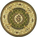 Lyndhurst Collection Traditional Sage/ Ivory Rug (8' Round)