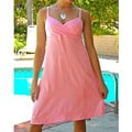 Women's Light Pink Rayon Mini Dress (Indonesia)