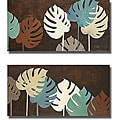 P. Pinto 'My Fashion Leaves I & II' Canvas 2-piece Art Set