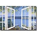 Diane Romanello 'Island Time with Window' Canvas Art