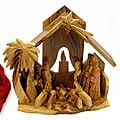 Hand-carved Olive Wood Nativity Scene (Bethlehem)