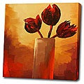 'Red Flower' Giclee Print Canvas Art