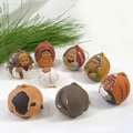 Ceramic 8-piece Nativity Ornament Set (Peru)