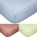 Tadpoles Gingham Fitted Sheets (Set of 2)