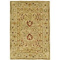 Handmade Majesty Light Brown/ Beige Wool Rug (2&#39; x 3&#39;)