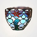 Stained Glass 'Festive Bowl' LED Wall Light