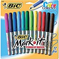 Bic Mark-it Color Fine Point Permanent Markers (Package of 12)