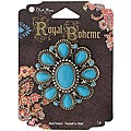 Blue Moon Royal Boheme Antique Silver/ Turquoise Flower Pendant