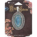 Blue Moon Royal Boheme Oval Turquoise/ Antique Silver Pendant