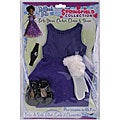 Springfield Collection Purple 18-inch Doll Party Dress Set
