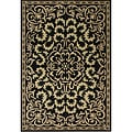 Alliyah Handmade Venice Medallion Black Wool Rug (8' x 10')