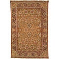 Heirloom Hand-knotted Kashan Gold Wool Rug (9&#39; x 12&#39;)