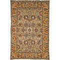 Heirloom Treasures Hand-knotted Light Green/ Gold Rug (6&#39; x 9&#39;)