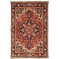 Heirloom Treasures Hand-knotted Red Wool Rug (8&#39; x 10&#39;)