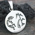 Sterling Silver Kokopelli Design Pendant (Mexico)