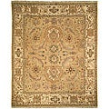 Oushak Legacy Hand-knotted Sari Gold/ Ivory Wool Rug (9' x 12')