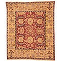 Oushak Hand-knotted Zardi Red/ Gold Wool Rug (10' x 14')