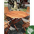 Eucalyptus Wood Octagonal Dining Table