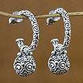 Sterling Silver &#39;Ringlets&#39; Dangle Earrings (Indonesia)