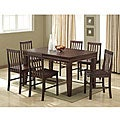 Espresso 7-piece Wood Dining Set