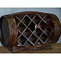 Wood Stained Barrow Wine Rack