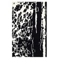 Handmade Soho Deco Black/ White New Zealand Wool Rug (5' x 8')