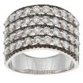 Kabella 18k White Gold 2 1/6ct TDW Black and White Diamond Ring (H-I, I3) (Size 6.5)