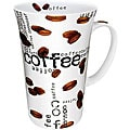 Konitz Coffee Collage White 10-ounce Mugs (Set of 4)