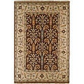 Hand-knotted Legacy Brown New Zealand Wool Rug (9&#39; x 12&#39;)
