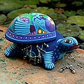 Ceramic 'Honored Turtle' Jewelry Box (Mexico)