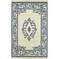 Set of 2 Hand-knotted New Zealand Wool Rugs (2'x3')
