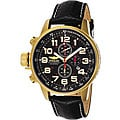 Invicta Men's Lefty Chronograph Leather Goldplated Watch