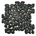 SomerTile 12x12-in Riverbed Black Natural Stone Mosaic Tile (Pack of 10)
