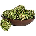 Decorative 5-inch Artichokes (Set of 6)