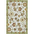 Hand-hooked Carnation Wool Rug (3&#39;6 x 5&#39;6)