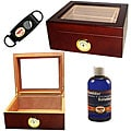 Glass Top Humidor Set