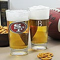 49ers NFL Pint Glasses (Set of 2)