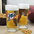 Dolphins NFL Pint Glasses (Set of 2)