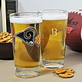 Rams NFL Pint Glasses (Set of 2)