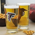 Falcons NFL Pint Glasses (Set of 2)