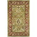 Safavieh Handmade Mahal Green/ Rust New Zealand Wool Rug (3' x 5')