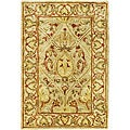 Handmade Mahal Light Brown/ Beige New Zealand Wool Rug (2' x 3')